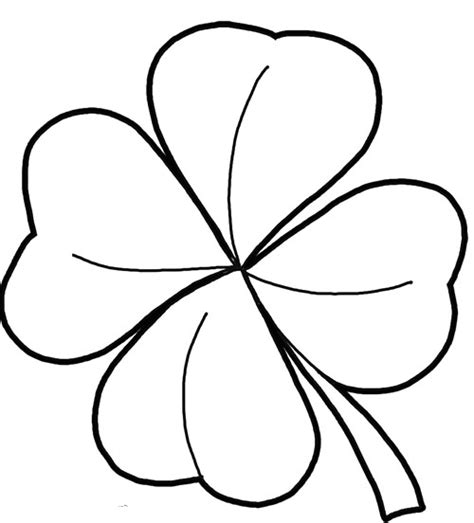 pattern st color four leaf clover good coloring pages drawings