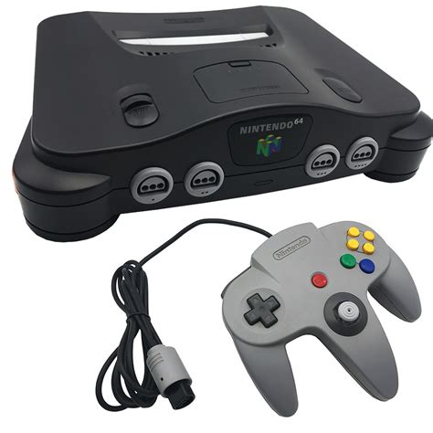 nintendo 64 console nintendo 64 charcoal black console pre owned the gamesmen