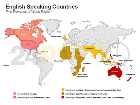 speaking countries map - Which Countries Speak