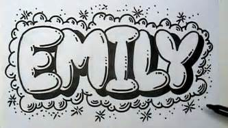 how to graffiti letters write emily in letters