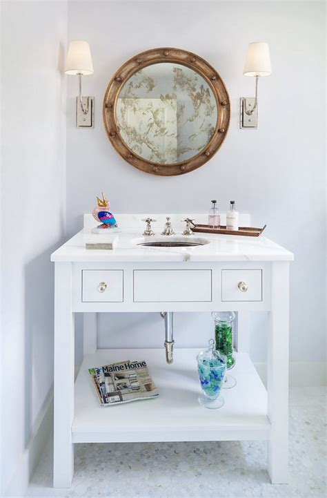 beach house bathroom mirrors inspirations on the horizon coastal beach house bathrooms