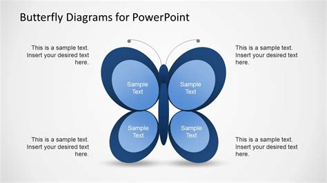Creative Butterfly Diagrams For Powerpoint Slidemodel Creative Diagrams