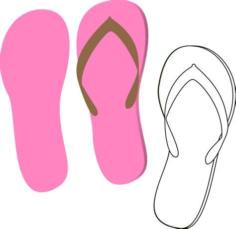 flip flops clip flip flops pink clip at clker vector clip