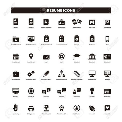 icons in resume therpgmovie