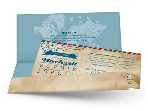 Hochzeit 4 You by Hochzeitseinladungen Ticket Airmail 4 You