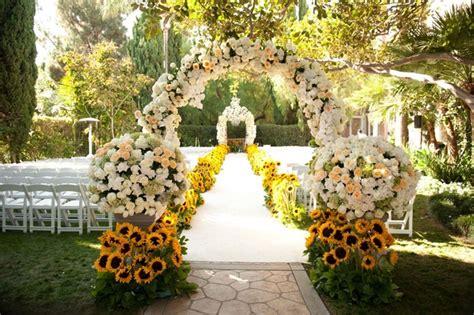 Outdoor Fall Decorating Ideas Yard - summer sunflower ceremony amp garden inspired reception inside weddings