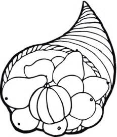 horn of plenty coloring pages
