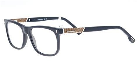 eyeglasses diesel dl 5157 090 unisex blue square all4optics
