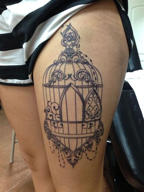 bird cage tattoos bird cage possibly less decorations tattoos