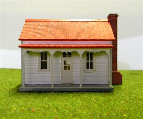 Victorian Miners Cottage Ho Scale Model Train Buildings Miners Cottage House Plans