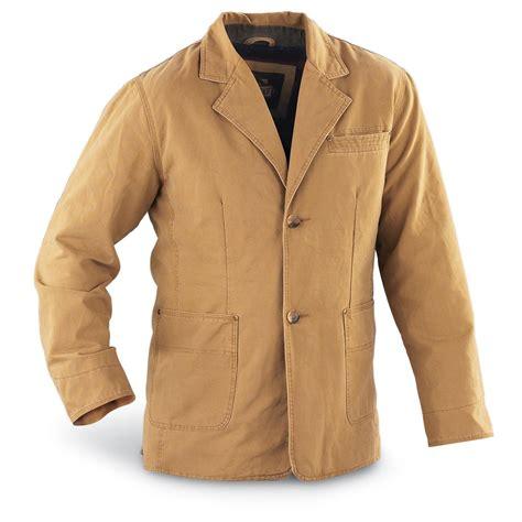 Jacket Parka Bahan Canvas guide gear 174 canvas fleece lined sport coat 103046 uninsulated jackets coats at