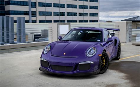 Wallpapers Porsche 911 Gt3rs 2018 Purple Sports