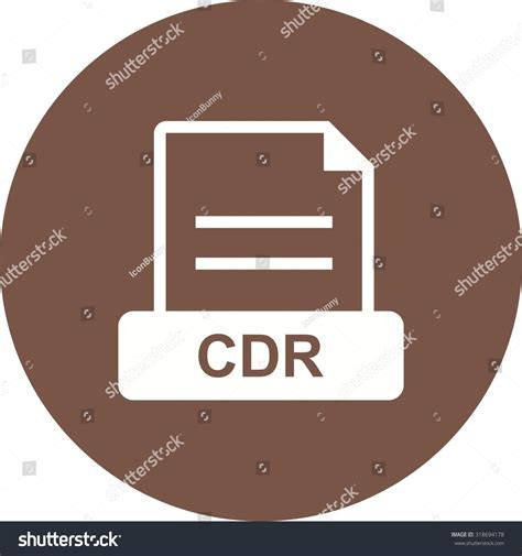 Cdr Blank cdr blank cd icon vector image can also be used for file format design and storage suitable