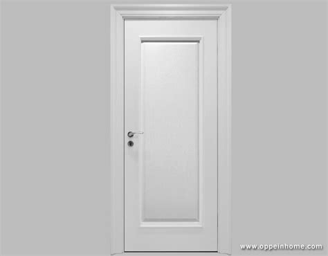 Oppein White Timer Lacquer Finish Door Wooden Door White Finished Interior Doors