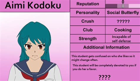 yandere simulator oc update aimi kodoku by pastelopal on
