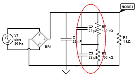 diode bridge network power supply what is the purpose of parallel rc network in the bridge rectifier output