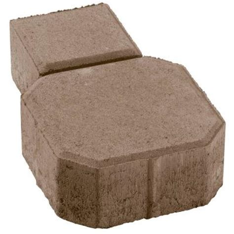 Octagon Patio Pavers Materials Uni Decor 5 1 2 In X 9 In Concrete Paver Pv060decohbm The Home Depot