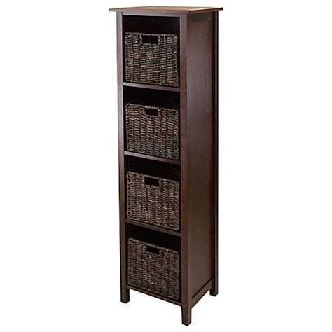 buy winsome trading granville 4 tier storage shelf with 4