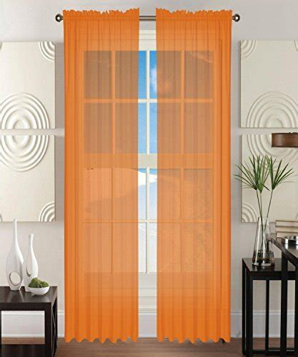 40 inch window curtains elegant comfort 2 piece solid sheer panel curtain with