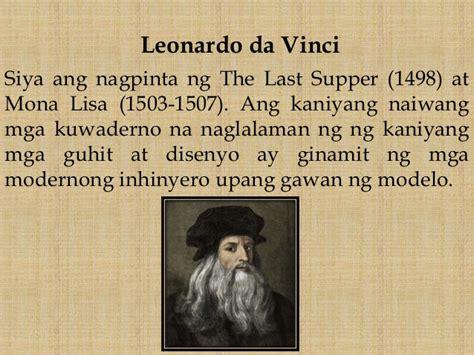 leonardo da vinci biography summary tagalog sining sa renaissance period