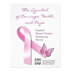 Breast Cancer Template by Flyer Breast Cancer Awareness Letterhead Template Zazzle
