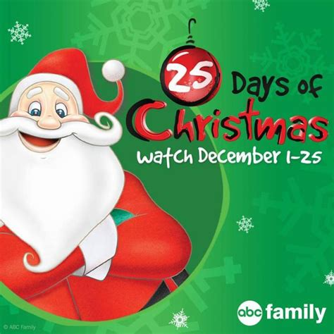 abc family 25 days of christmas 2015 schedule full