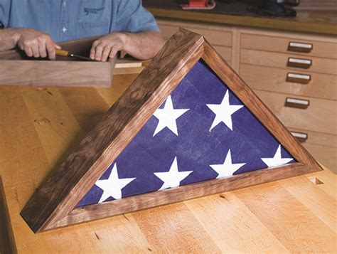making  memorial flag case woodworkers journal diy