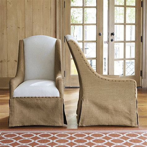 Ballard Upholstery by These Slipcovered Chairs Cortina Chair With Burlap And