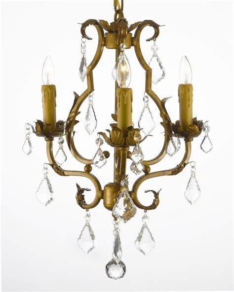 Wrought Iron Chandelier With Crystals G7 846 3 Gallery Wrought With Wrought Iron Mini Chandelier With Crystals