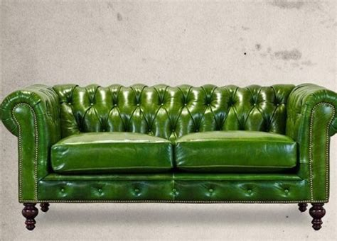 green tufted sofa high end furnishings green leather