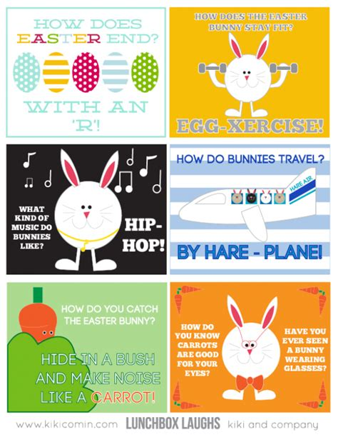 printable easter lunch box jokes fabulous free easter printables design dazzle