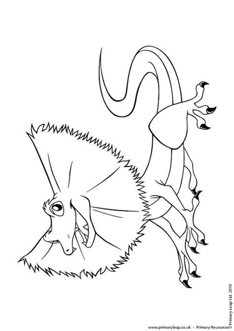 big lizard coloring page frill neck lizerd colouring pages