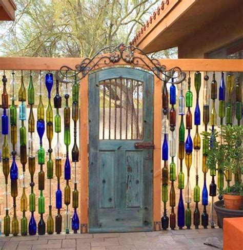 Beautiful Garden Gates Home Inspiration Wine Bottle Garden Wall