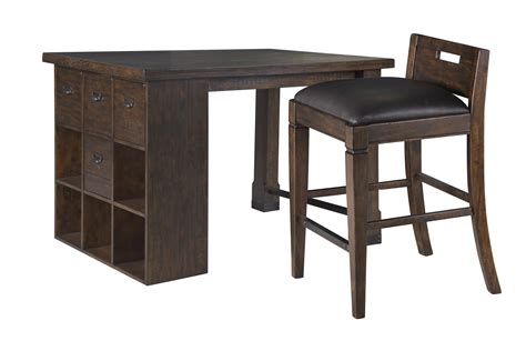 magnussen home pine hill counter height desk and chair set