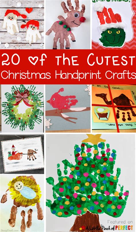 hands on crafts for christmas in the morning 20 of the cutest handprint crafts for