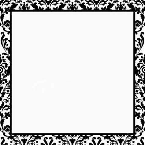Black And White Border Cards Template by Damask Border Clip Clipart Best