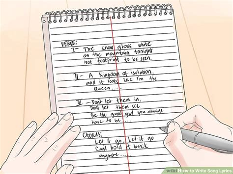 How To Write Song Lyrics With Sle Lyrics Wikihow Lyric Template