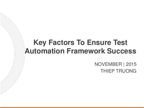 was thanksgiving a success quiz key factors to ensure test automation framework success