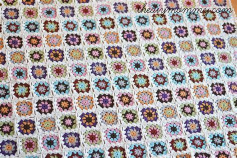 Rug Yarn Skeins Crochet An Organic Cotton Granny Square Baby Blanket
