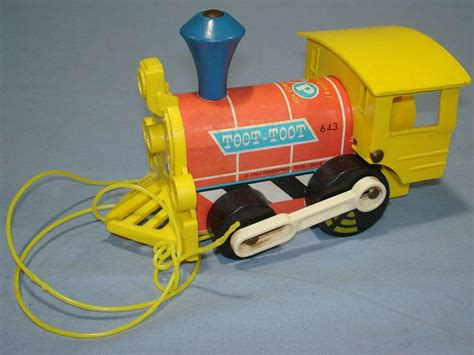 fisher price train 1964 fisher price toys fp toot toot train engine pull toy