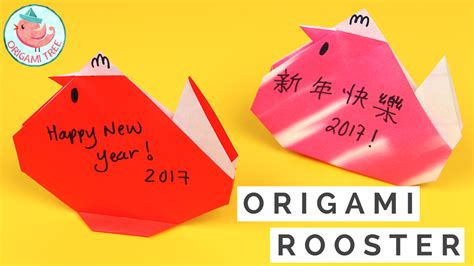 simple new year origami origami rooster for new year 2017 easy craft for