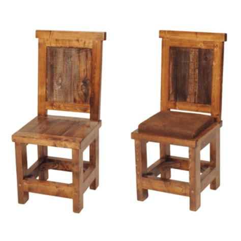 rustic chairs wyoming reclaimed wood dining chair