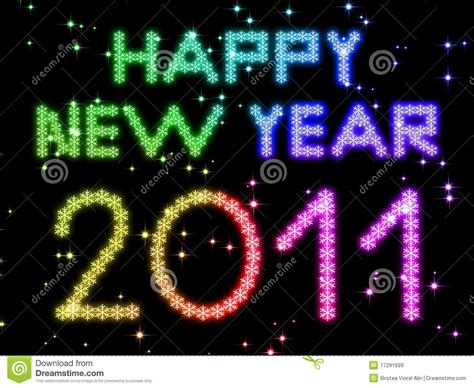 new year illustration royalty free stock images 2011 happy new year