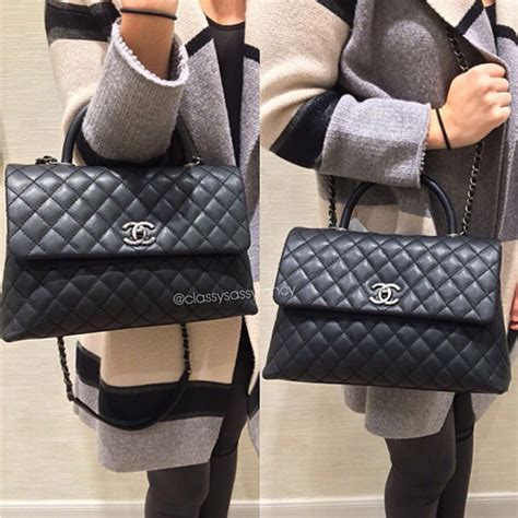 coco handle medium size chanel coco handle bag reference guide spotted fashion