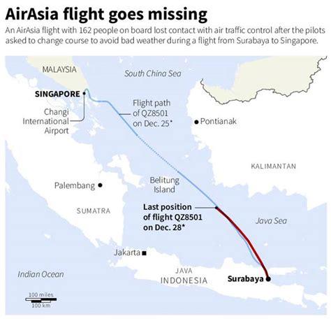 airasia qz502 did airasia flight qz8501 land at belitung island