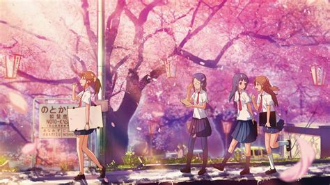 wallpaper animasi japan hewan lucu 2016 animasi bergerak bunga sakura berguguran