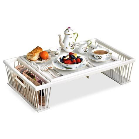bed trays wood glass breakfast bed tray with reading rack mother s day gifts holiday gifts