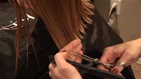 how to cut hair basic trim hair tutorial