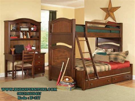 Daftar Ranjang Kayu Tingkat ranjang dua susun kayu jati terbaru ranjang susun anak kayu jati ikhsan furniture jepara
