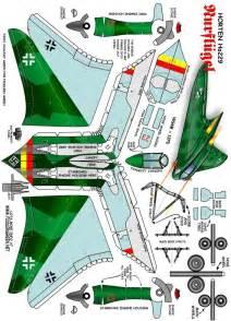 horten ho 229 fiddlers green paper models pinterest